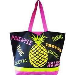 """Shopper bag damskie: Torba plażowa """"Acapulco"""" z kolorowym wzorem - 35 x 58 x 23 cm"""