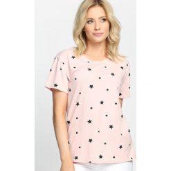 Różowy T-shirt Sweet Truth. Czerwone bluzki damskie marki Born2be, l. Za 39,99 zł.
