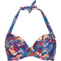 Biustonosze bardotka: Biustonosz bikini w kolorze niebieskim
