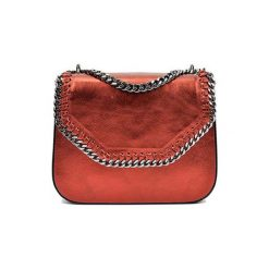 Torebki klasyczne damskie: Skórzana torebka w kolorze czerwonym – (S)21 x (W)24 x (G)7 cm