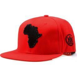 Czapka męska snapback czerwona (hx0211). Czerwone czapki z daszkiem męskie Dstreet, z aplikacjami, eleganckie. Za 69,99 zł.