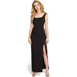 MARY Sukienka maksi z rozcięciem na boku - czarna. Czarne sukienki na komunię Moe, z dekoltem na plecach, bez rękawów. Za 179,90 zł.