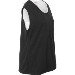 T-shirt z topem 2 w 1, z kolekcji Maite Kelly bonprix czarno-biały. Czarne t-shirty damskie bonprix, z okrągłym kołnierzem. Za 29,99 zł.