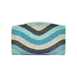 Puzderka: Kopertówka w kolorze turkusowym ze wzorem – (D)20 x (S)12 cm