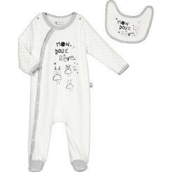 Odzież niemowlęca: 2-częściowy zestaw w kolorze białym