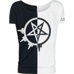Bluzki asymetryczne: Arch Enemy 2 Tone Pentagram Koszulka damska czarny
