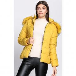 Żółta Kurtka Esteemed. Brązowe kurtki damskie pikowane marki QUECHUA, na zimę, m, z materiału. Za 134,99 zł.