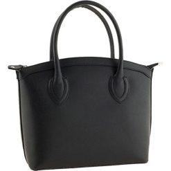 Torebki klasyczne damskie: Skórzana torebka w kolorze czarnym – 36 x 26 x 15 cm