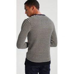 Swetry klasyczne męskie: Suit CONDOR STRIPE Sweter navy/off white