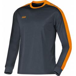Koszulki sportowe męskie: Jako Striker Koszulka z długim rękawem – mężczyźni – antracyt / neonorange _ s