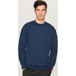 Gładka bluza Basic - Granatowy. Niebieskie bluzy męskie Reserved, m. Za 59,99 zł.