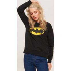 Bluza z nadrukiem Batman - Czarny. Czarne bluzy z nadrukiem damskie marki House, l. Za 69,99 zł.