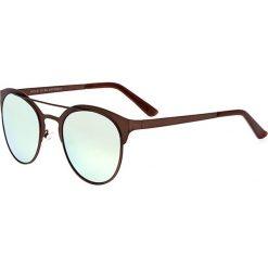 """Okulary przeciwsłoneczne męskie: Okulary męskie """"Phoenix"""" w kolorze ciemnobrązowo-turkusowym"""