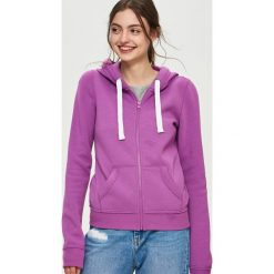 Bluzy damskie: Bluza z kapturem – Fioletowy