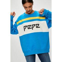 Pepe Jeans - Bluza Frankie. Szare bluzy z nadrukiem damskie Pepe Jeans, m, z bawełny, bez kaptura. Za 319,90 zł.