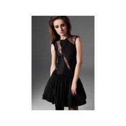 Sukienka ze wstawkami z koronki. Czarne sukienki dzianinowe marki Luiza kimak, m, w koronkowe wzory, bombki. Za 659,00 zł.