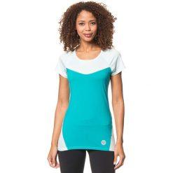 """Koszulka funkcyjna """"Tier"""" w kolorze turkusowo-miętowym. Niebieskie topy sportowe damskie marki Roxy, xs, z materiału. W wyprzedaży za 63,95 zł."""