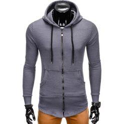 Bluzy męskie: BLUZA MĘSKA ROZPINANA Z KAPTUREM B771 – GRAFITOWA