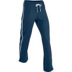 Spodnie dresowe męskie: Spodnie bawełniane dresowe, długie bonprix ciemnoniebieski