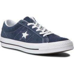 Tenisówki CONVERSE - One Star Ox 158371C Navy/White/White. Niebieskie tenisówki męskie marki Converse, z gumy. W wyprzedaży za 259,00 zł.