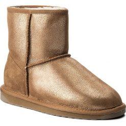 Buty EMU AUSTRALIA - Stinger Metallic Mini W11378 Rose Gold. Żółte buty zimowe damskie marki EMU Australia, ze skóry, na niskim obcasie. Za 639,00 zł.