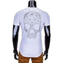 T-shirty męskie: T-SHIRT MĘSKI Z NADRUKIEM S772 – BIAŁY