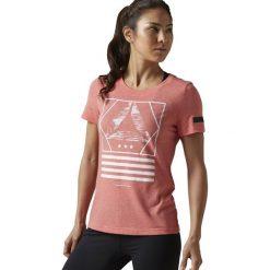 Reebok Koszulka damska Workout Ready Cotton Tee czerwona r. XL (BK2881). Szare topy sportowe damskie marki Reebok, l, z dzianiny, casualowe, z okrągłym kołnierzem. Za 63,44 zł.