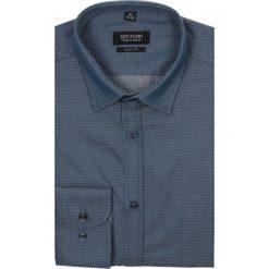 Koszula kelso 2017 długi rękaw slim fit granatowy. Szare koszule męskie na spinki marki Recman, m, z długim rękawem. Za 99,99 zł.