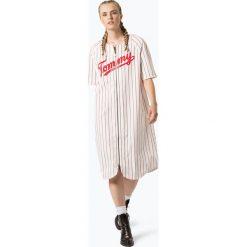 Tommy Jeans - Sukienka damska, czarny. Szare sukienki marki Tommy Jeans, l, z dzianiny, z podwyższonym stanem, dopasowane. Za 599,95 zł.