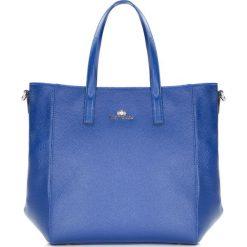 86-4E-445-7 Torebka damska. Niebieskie shopper bag damskie Wittchen, w paski, ze skóry, duże. Za 459,00 zł.