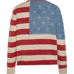 Polo Ralph Lauren FLAG  Sweter multicolor. Czerwone swetry klasyczne damskie Polo Ralph Lauren, z bawełny, polo. Za 399,00 zł.