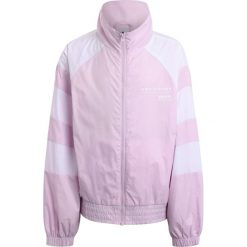Adidas Originals Kurtka sportowa pink/white. Szare kurtki dziewczęce marki adidas Originals, na co dzień, z nadrukiem, z bawełny, casualowe, z okrągłym kołnierzem, proste. Za 349,00 zł.