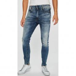 G-Star Raw - Jeansy D-Staq. Niebieskie jeansy męskie regular G-Star RAW, z bawełny. W wyprzedaży za 599,90 zł.