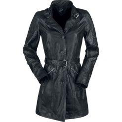 Gipsy Frida 2 LDCV Płaszcz skórzany damski czarny. Czarne płaszcze damskie pastelowe Gipsy, l, w paski, z materiału. Za 894,90 zł.