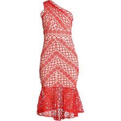 Love Triangle SIENNA SUNSET MIDI DRESS Sukienka koktajlowa red/nude. Czerwone sukienki koktajlowe Love Triangle, z materiału, midi. Za 349,00 zł.