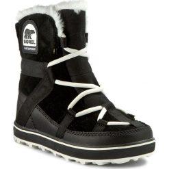 Śniegowce SOREL - Glacy Explorer Shortie NL2079 Black 010. Czarne buty zimowe damskie Sorel, z gumy. W wyprzedaży za 469,00 zł.