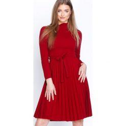 Bordowa Sukienka Forever. Czerwone sukienki marki Mohito, l, z weluru. Za 99,99 zł.