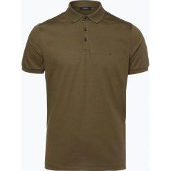 Calvin Klein - Męska koszulka polo, zielony. Pomarańczowe koszulki polo marki Calvin Klein, l, z bawełny, z okrągłym kołnierzem. Za 199,95 zł.