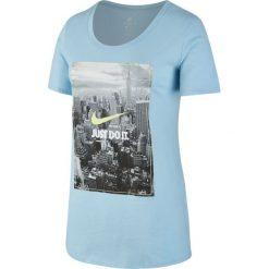 KOSZULKA W NSW TEE PHOTO JDI BF. Białe bluzki z odkrytymi ramionami marki Adidas, z bawełny, z długim rękawem, długie. Za 49,99 zł.