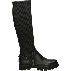 Kozaki - LB06 T-C NERO. Czarne buty zimowe damskie Venezia, ze skóry. Za 289,00 zł.