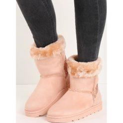 Buty zimowe damskie: Różowe Śniegowce Vanity Fair