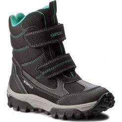 Buty zimowe chłopięce: Śniegowce GEOX – J Himal. B. Wpf A J643AA 0FUCE C0016 Black/Green