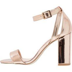 Sandały damskie: New Look STRIKES Sandały na obcasie rose gold