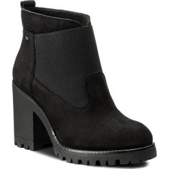 Botki WOJAS - 7592-21 Czarny. Czarne buty zimowe damskie Wojas, z materiału, na obcasie. W wyprzedaży za 259,00 zł.