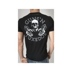T-SHIRT GUNSLINGER. Czarne t-shirty męskie Guns&tuxedos, s, z klasycznym kołnierzykiem. Za 219,00 zł.