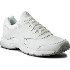 Buty Reebok - Work N Cushion 3.0 BS9523  White/Steel. Białe buty do biegania męskie marki Reebok, z materiału. Za 229,00 zł.