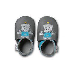 BOBUX Boys Buciki do raczkowania ROBOT grey - szary. Czarne buciki niemowlęce chłopięce marki Baby Bites, z bawełny. Za 115,00 zł.