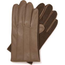 Rękawiczki męskie 39-6-342-0A. Brązowe rękawiczki męskie marki Reserved. Za 149,00 zł.