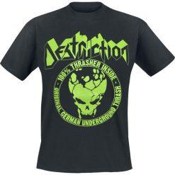 Destruction 100% Thrasher T-Shirt czarny. Czarne t-shirty męskie z nadrukiem Destruction, s, z okrągłym kołnierzem. Za 54,90 zł.