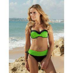 Stroje kąpielowe damskie: Bikini w kolorze czarno-zielonym